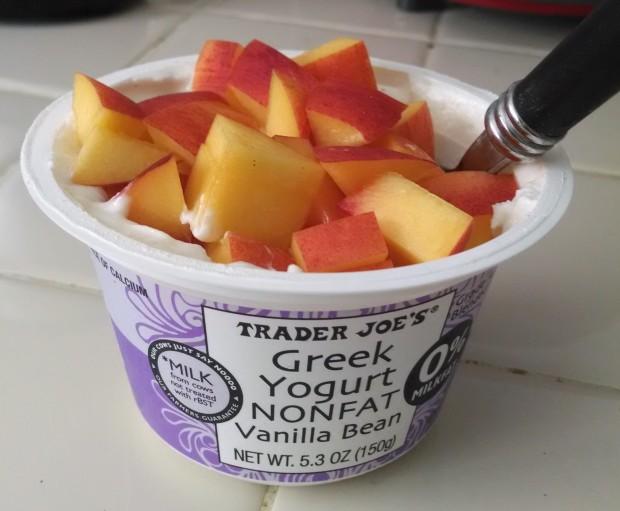 nectarines and yogurt